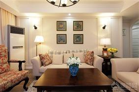 美式客厅照片墙实景图