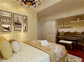 欧式卧室照片墙效果图