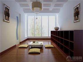 中式休闲区窗户效果图