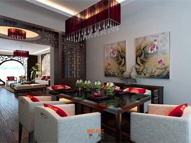 中式风格适合人群:性格沉稳,喜欢中国传统文化的人。