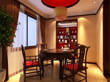 中式餐厅吊顶效果图